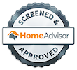 A small, low opacity, Home Advisor icon
